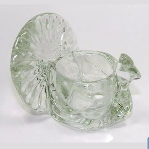 Vintage glass TURKEY votive candle holder